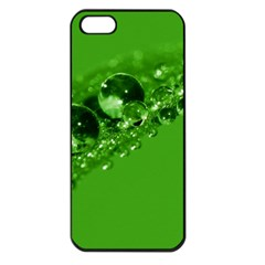 Green Drops Apple Iphone 5 Seamless Case (black) by Siebenhuehner