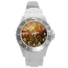 Waterdrops Plastic Sport Watch (large) by Siebenhuehner