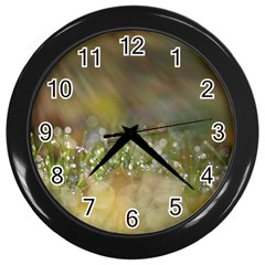 Sundrops Wall Clock (black) by Siebenhuehner