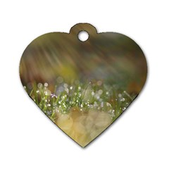Sundrops Dog Tag Heart (two Sided) by Siebenhuehner