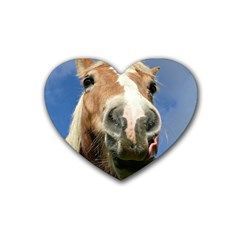 Haflinger  Drink Coasters 4 Pack (heart)  by Siebenhuehner
