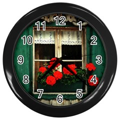 Window Wall Clock (black) by Siebenhuehner