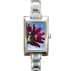 Daisy Rectangular Italian Charm Watch by Siebenhuehner