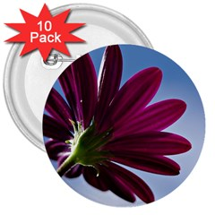 Daisy 3  Button (10 Pack) by Siebenhuehner