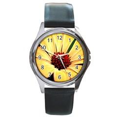 Osterspermum Round Metal Watch (silver Rim) by Siebenhuehner