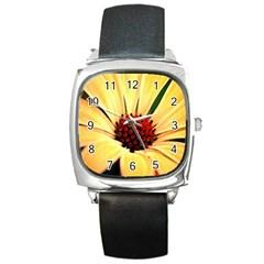 Osterspermum Square Leather Watch by Siebenhuehner