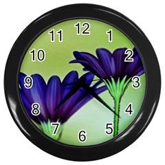Osterspermum Wall Clock (black) by Siebenhuehner