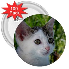 Young Cat 3  Button (100 Pack) by Siebenhuehner