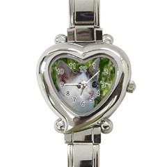 Young Cat Heart Italian Charm Watch