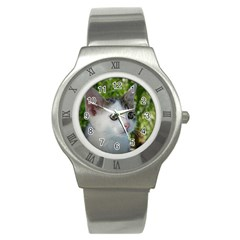 Young Cat Stainless Steel Watch (unisex) by Siebenhuehner