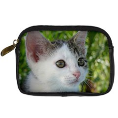 Young Cat Digital Camera Leather Case by Siebenhuehner
