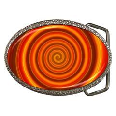 Modern Art Belt Buckle (oval) by Siebenhuehner