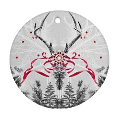 Christmas Collage Round Ornament by Contest1764179