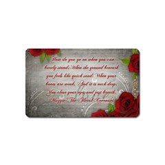 Maggie s Quote Magnet (name Card) by AuthorPScott