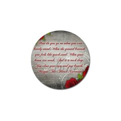 Maggie s Quote Golf Ball Marker 4 Pack by AuthorPScott