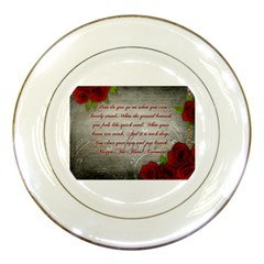 Maggie s Quote Porcelain Display Plate by AuthorPScott