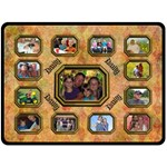 Family Collage large blanket - Fleece Blanket (Large)