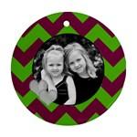 Round Chevron Ornament - Ornament (Round)