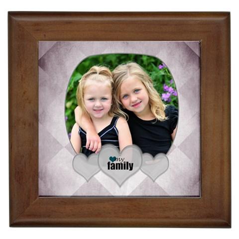 Family Tile By Amanda Bunn   Framed Tile   820vrxncsgj4   Www Artscow Com Front