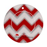 Christmas Trees 2 side - Round Ornament (Two Sides)