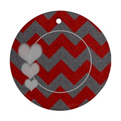 Chevron 2 Sided Round By Amanda Bunn   Round Ornament (two Sides)   8k8sqxdp6cgn   Www Artscow Com Front