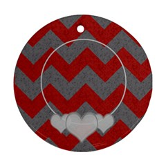 Chevron 2 Sided Round By Amanda Bunn   Round Ornament (two Sides)   8k8sqxdp6cgn   Www Artscow Com Back
