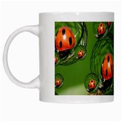 Ladybird White Coffee Mug by Siebenhuehner