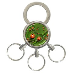Ladybird 3 Ring Key Chain by Siebenhuehner