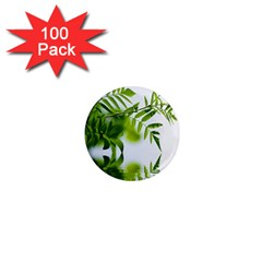 Leafs With Waterreflection 1  Mini Button Magnet (100 Pack) by Siebenhuehner