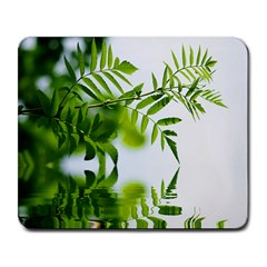 Leafs With Waterreflection Large Mouse Pad (rectangle) by Siebenhuehner