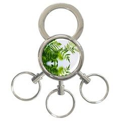 Leafs With Waterreflection 3 Ring Key Chain by Siebenhuehner