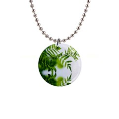 Leafs With Waterreflection Button Necklace by Siebenhuehner