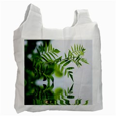 Leafs With Waterreflection Recycle Bag (one Side) by Siebenhuehner