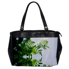Leafs With Waterreflection Oversize Office Handbag (one Side) by Siebenhuehner