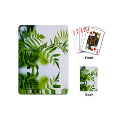 Leafs With Waterreflection Playing Cards (mini)