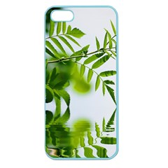 Leafs With Waterreflection Apple Seamless Iphone 5 Case (color) by Siebenhuehner