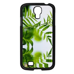Leafs With Waterreflection Samsung Galaxy S4 I9500/ I9505 Case (Black)