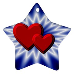 Love Star Ornament (two Sides) by Siebenhuehner