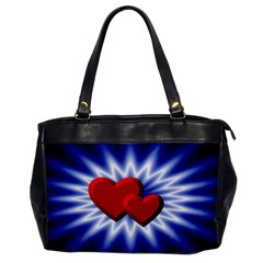 Love Oversize Office Handbag (one Side) by Siebenhuehner