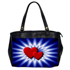 Love Oversize Office Handbag (two Sides) by Siebenhuehner