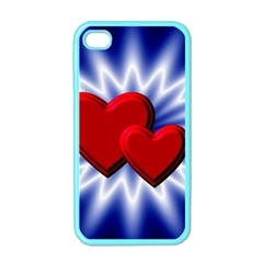 Love Apple iPhone 4 Case (Color) by Siebenhuehner