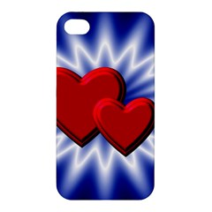 Love Apple Iphone 4/4s Premium Hardshell Case by Siebenhuehner