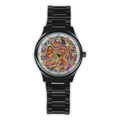 Modern  Sport Metal Watch (black) by Siebenhuehner