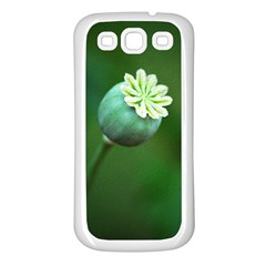 Poppy Capsules Samsung Galaxy S3 Back Case (white) by Siebenhuehner