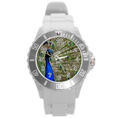 Peacock Plastic Sport Watch (large) by Siebenhuehner