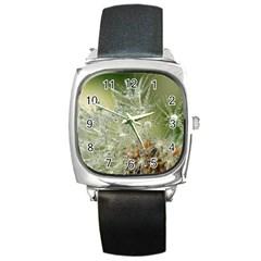 Dandelion Square Leather Watch by Siebenhuehner