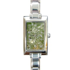 Dandelion Rectangular Italian Charm Watch by Siebenhuehner