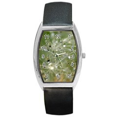 Dandelion Tonneau Leather Watch by Siebenhuehner