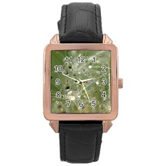 Dandelion Rose Gold Leather Watch  by Siebenhuehner