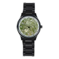 Dandelion Sport Metal Watch (black) by Siebenhuehner
